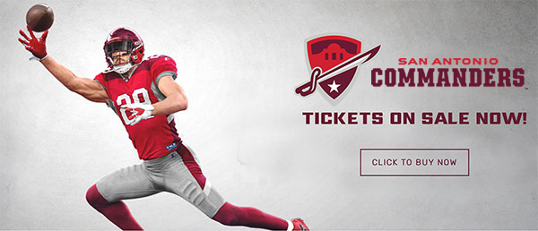 San Antonio Commanders: Tickets On Sale Now!