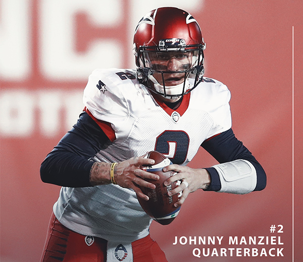 Memphis Express Quarterback Johnny Manziel